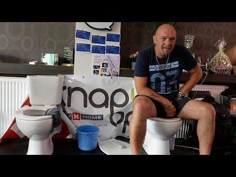 شاهد بلجيكي يجلس على المرحاض لخمسة أيام متواصلة