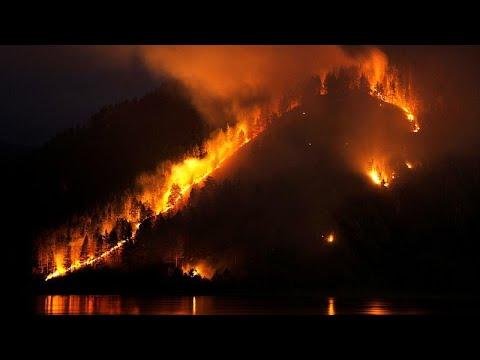 شاهد اندلاع أكثر من 100 حريق هائل في منطقة إيركوتسك في سيبيريا