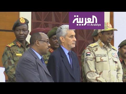 شاهد وفد مشترك من المجلس العسكري وقوى التغيير يزور جوبا