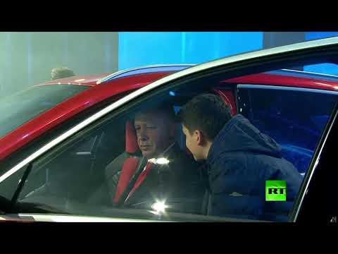 شاهد رجب طيب أردوغان يدشن أول سيارة كهربائية تركية