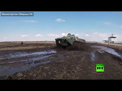 شاهد طلاب مدرسة عسكرية روسية يشاركون في رمايات من المدرعات