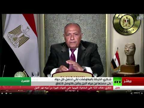 شاهد كلمة وزير الخارجية المصري أمام مجلس الأمن حول سد النهضة