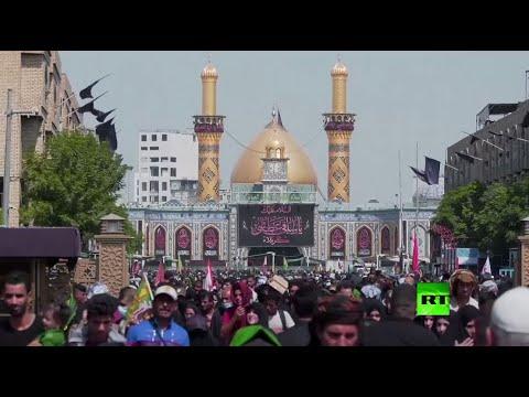 شاهد تدفق آلاف الزوار إلى كربلاء قبل مسيرة الأربعين رغم كورونا