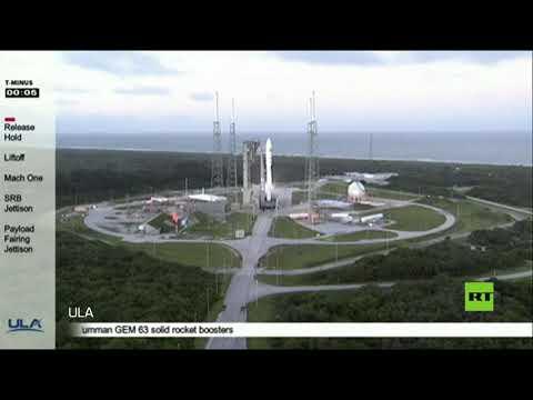 إطلاق صاروخ أطلس في إلى الفضاء من قاعدة كانافيرال الأميركية